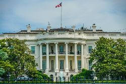ホワイトハウスの外観写真画像