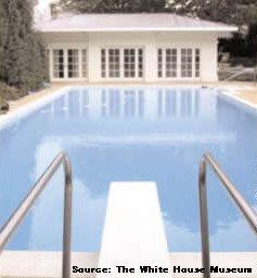 ホワイトハウス内にあるプールの写真画像