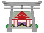 お宮参りは「神社」のイラスト画像