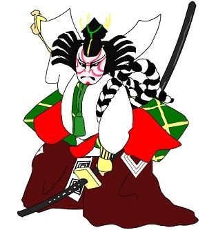 歌舞伎役者のイラスト画像