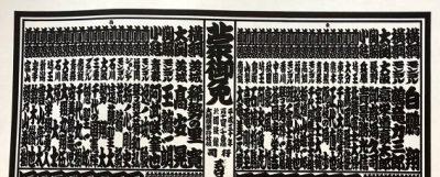 「しこ名」で記載されている相撲の番付表の画像