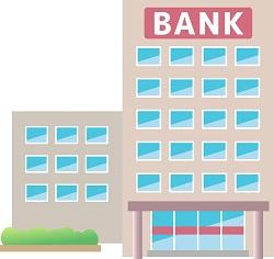 銀行の建物の外観画像