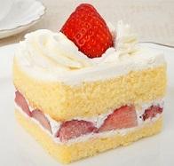 切り分けた後のショートケーキの画像