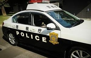 警視庁のパトカーの写真画像