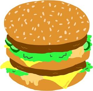 マクドナルドのビッグマックの画像
