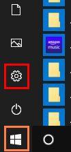 デスクトップ画面左下の「スタートボタン」をクリックし表示されるメニューの画像