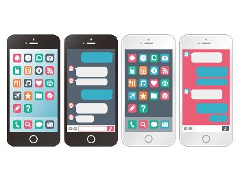 スマートフォンのイラスト画像