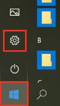 「設定」ボタン画面